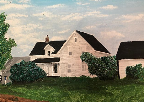 Painting of a house inspired by a book