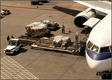 International Distribution by Air as parcels are flown around the world