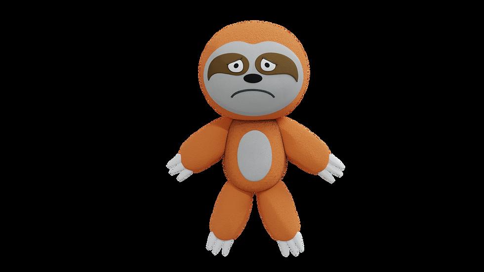 Orange Sloth Plush