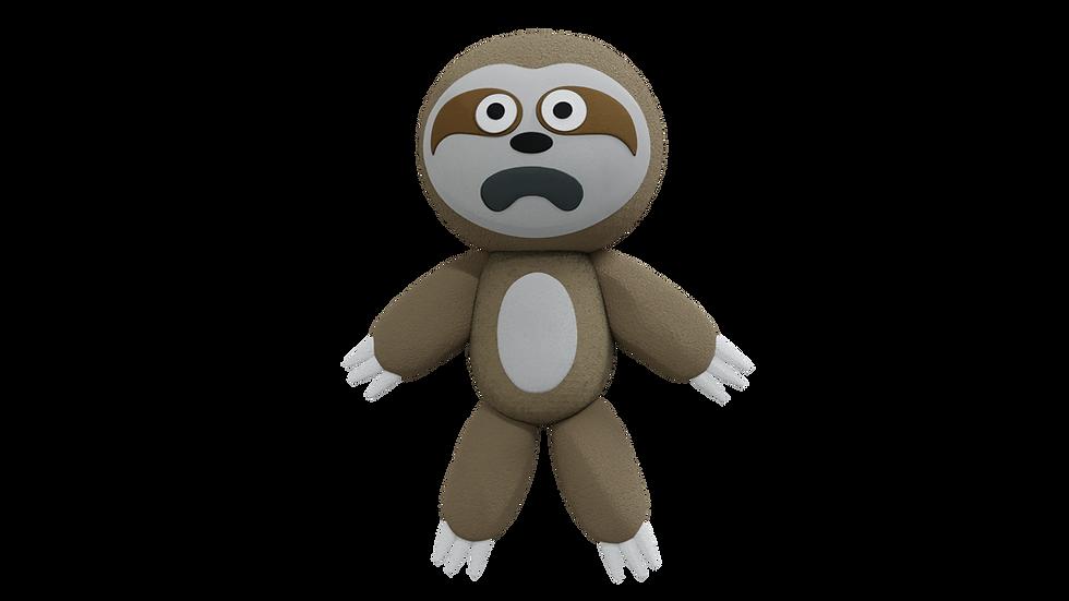 Scared Sloth Plush