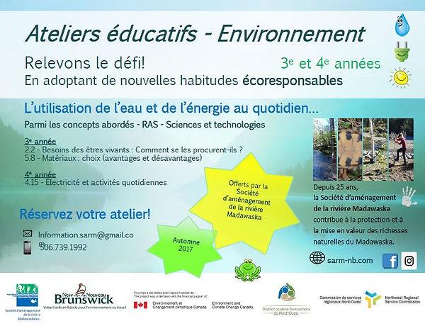Atelier éducatif en environnement pour le district scolaire francophone du Nord-Ouest