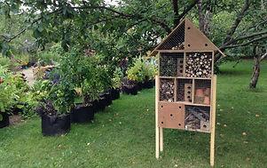 Hotel a insectes au jardin botanique du Nouveau-Brunswick