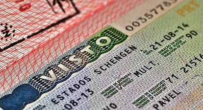 Виза в паспорте в Швейцарию