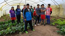 Bolivia, pupils from Veladero School