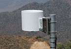 Precipitation gauge connected to the CloudFisher fog collector.