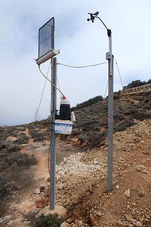 small fog test collector with measurement devices