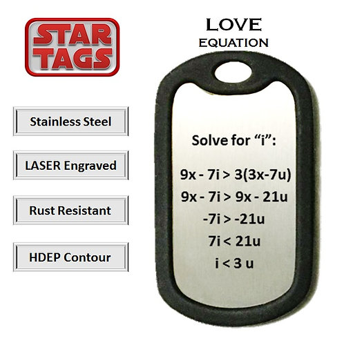 Space Gallery Online Love Tags Love Equation