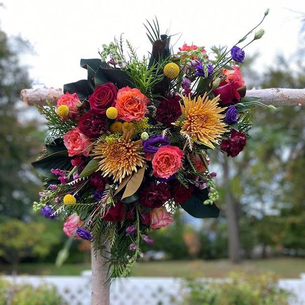 Fall floral fun _ Kat & Michael's weddin