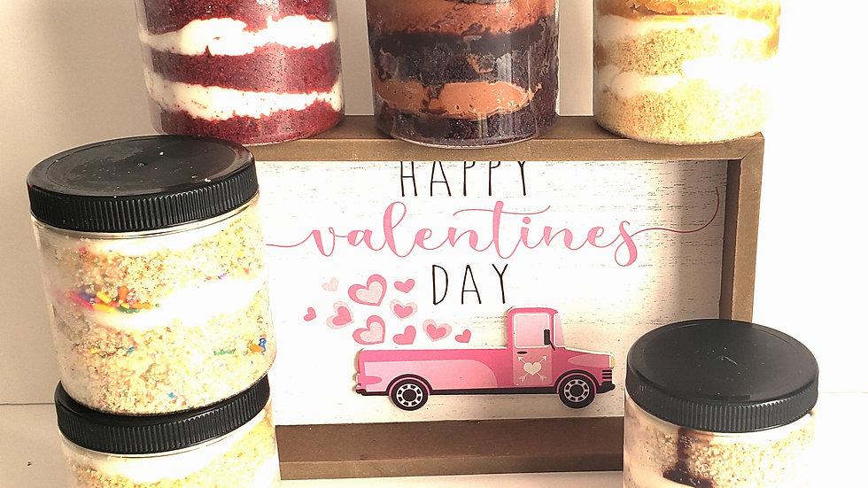 Valentines Cake Jar Special