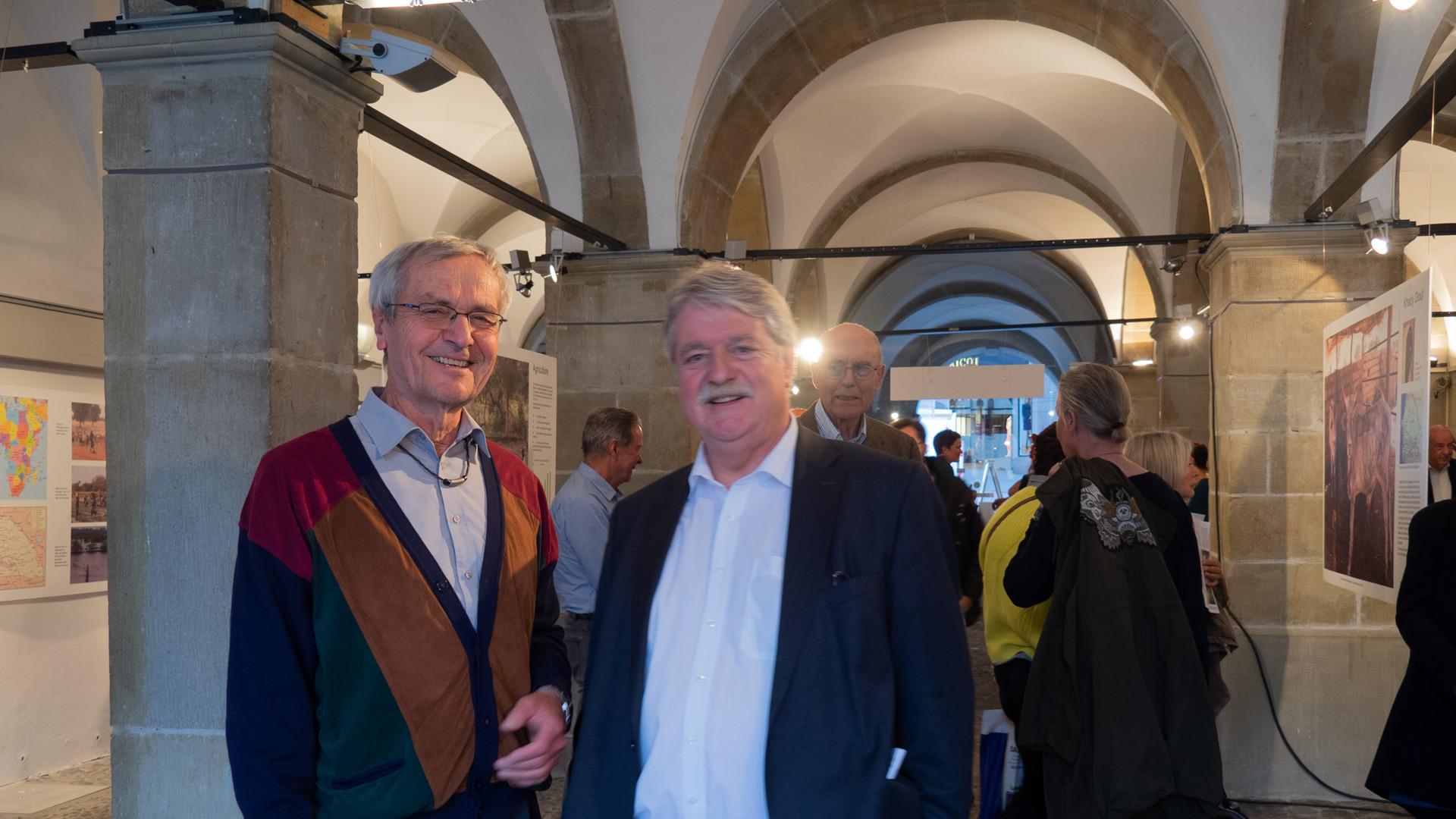 Monsieur Sutter Chef du protocole de la Ville de Lausanne et Roland Sauter fondateur et président de Sénégalité
