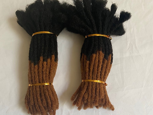 Black with Brown Tips Dreadlock Extension Bundles