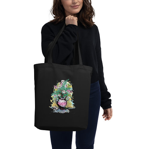 Hippie Flower Tote Bag
