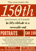 CAD150 Portraits for Canada's 150th Anniversary!