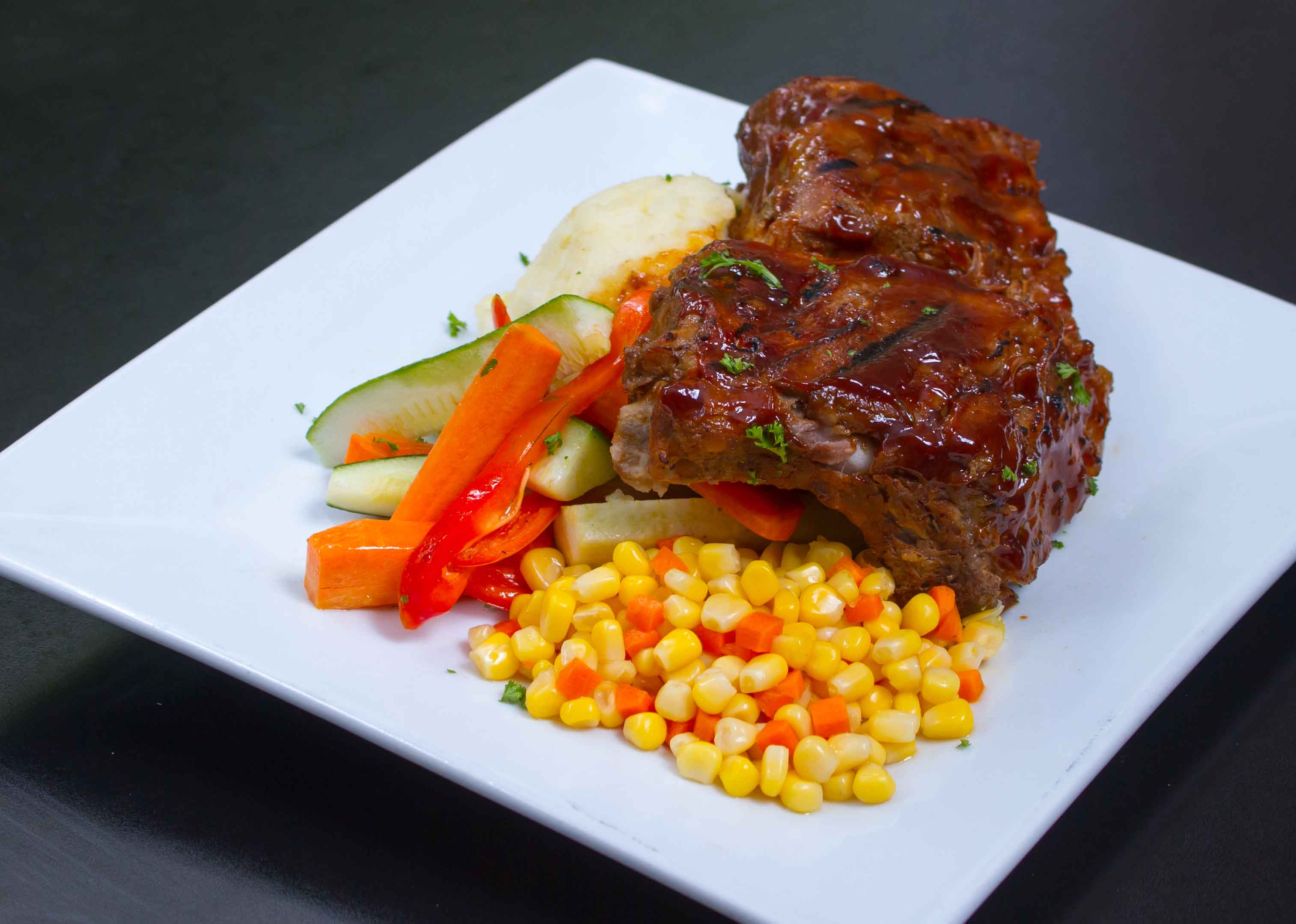 Ribs & Vegetables - Bowler Restaura