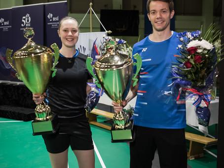 Kári Gunnarsson og Margrét Jóhannsdóttir eru badmintonfólk ársins 2019