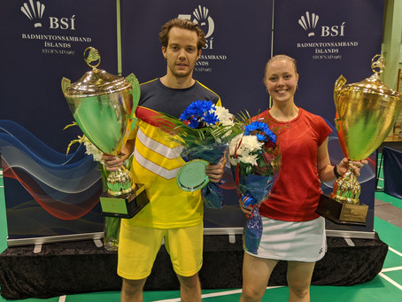 Kári Gunnarsson og Margrét Jóhannsdóttir eru badmintonfólk ársins 2020