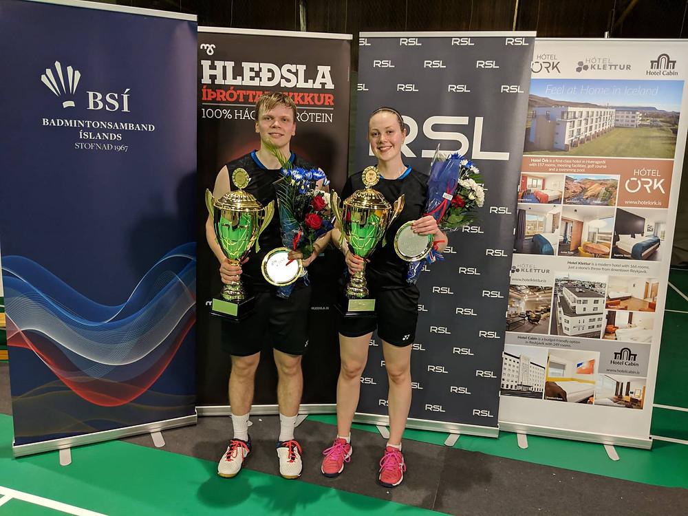 Kristófer Darri Finnsson og Margrét Jóhannsdóttir