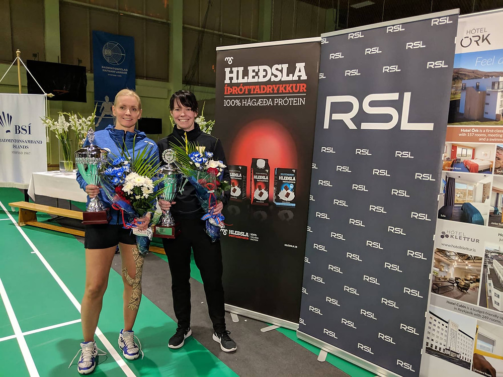Erla Björg Hafsteinsdóttir, BH, og Drífa Harðardóttir, ÍA.