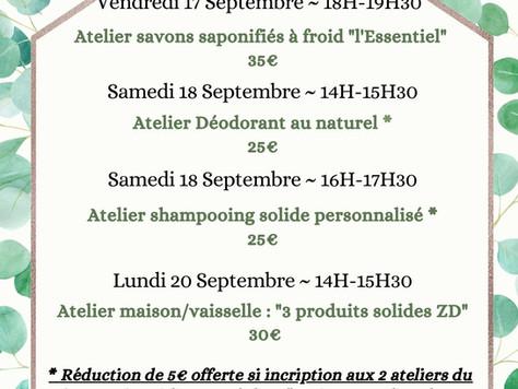 ~ ateliers initiation cosmétique et savonnerie végétale septembre- octobre ~