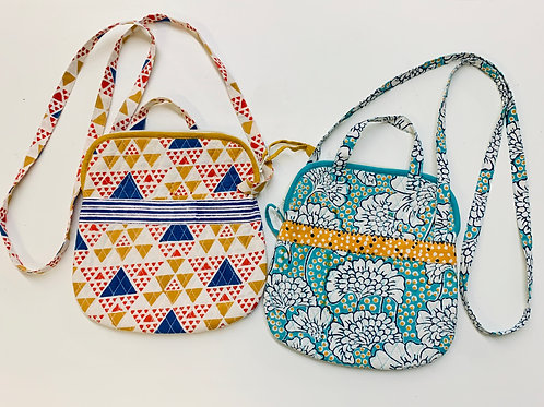 Handblocked Cotton Quilted Purses