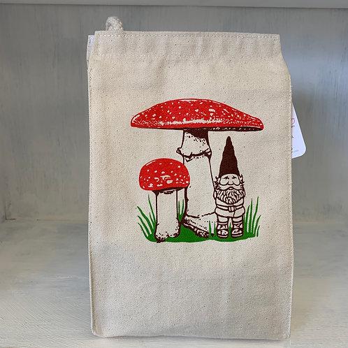 Gnome & Mushroom eco-friendly reusable lunch bag
