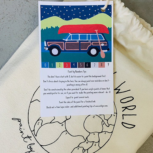 Camping Wagoneer Paint-by-Number Kit
