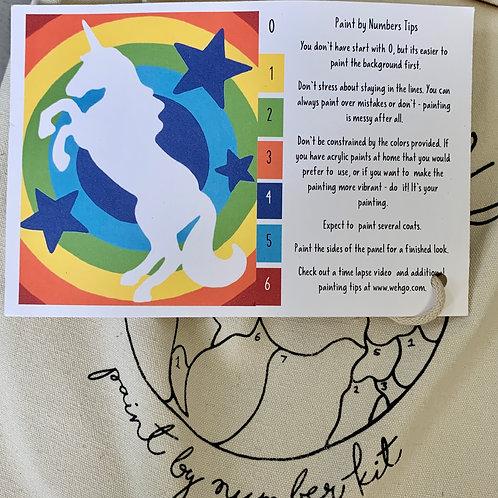 Unicorn Rainbow Paint-by-Number Kit