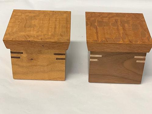 Handmade Lidded Wooden Boxes