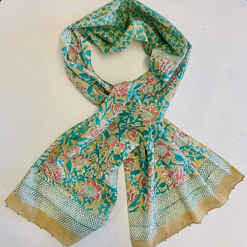 Hand Color Blocked Cotton Scarf