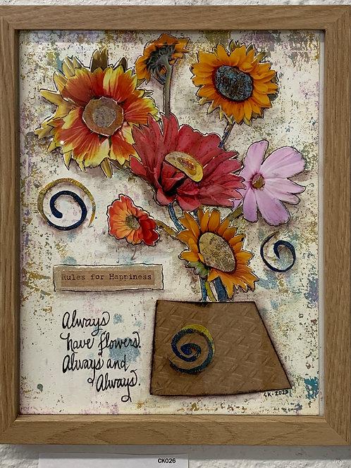Always Have Flowers Mixed Media original artwork