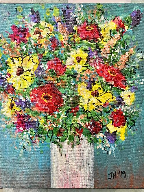 Birthday Bouquet Original Painting