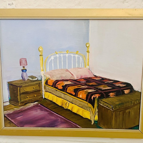 Bed Oil Painting