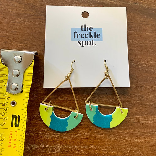 Polymer Clay and Gold Tone Earrings