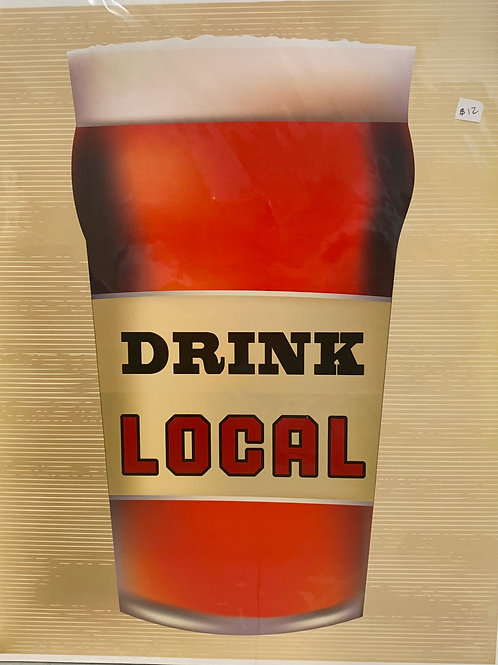 Drink Local Beer Print
