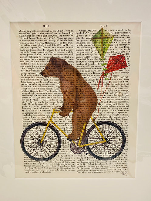 Bicycle Riding Bear Art Print