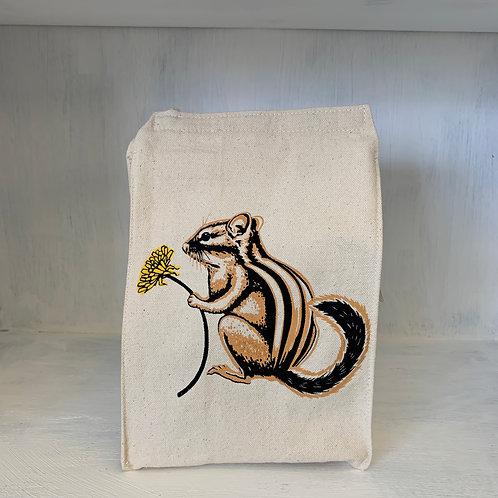 Chipmunk eco-friendly reusable lunch bag