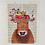 Thumbnail: Brown Cow with Flower Crown Art Print