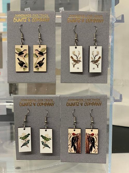 Handmade Bird Earrings