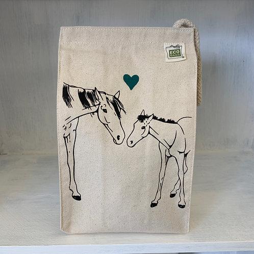 Horses eco-friendly reusable lunch bag