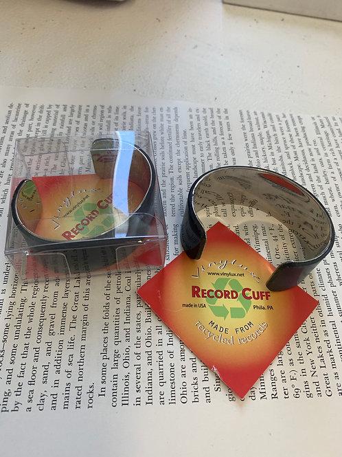 Repurposed Record Cuff Bracelet