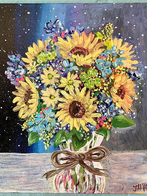 Galactic Bouquet Original Painting
