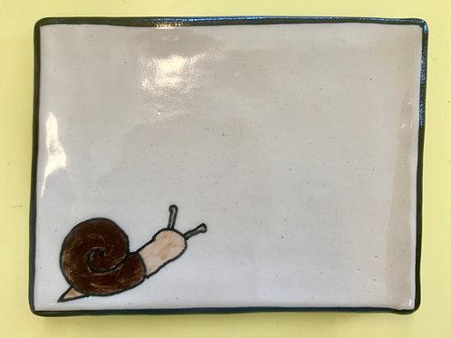 Snail Ceramic Soap or Trinket Dish