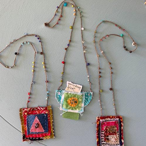 Hand-sewn Secret Amulet Necklaces