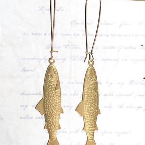 Golden Fish Earrings