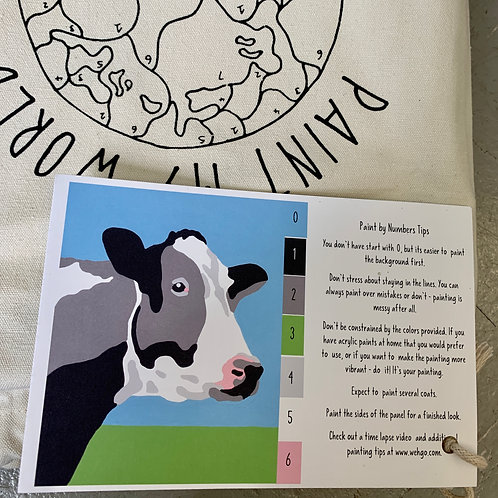 Cow Paint-by-Number Kit