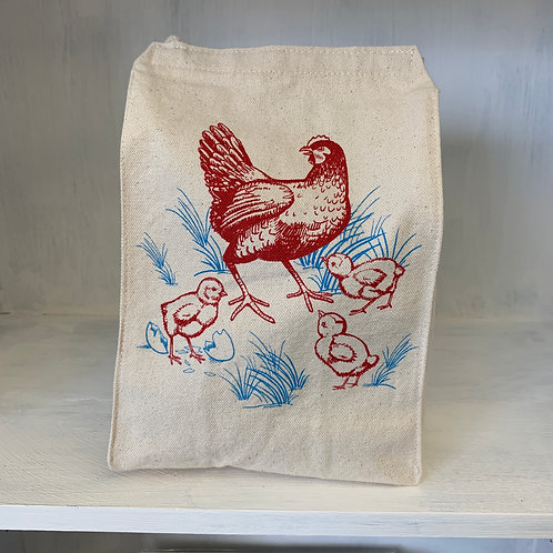 Hen and Chicks eco-friendly reusable lunch bag
