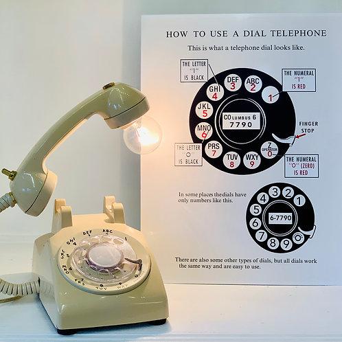 Repurposed Vintage Dial Telephone Lamp