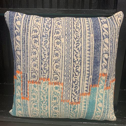 Color Blocked Cotton Pillow