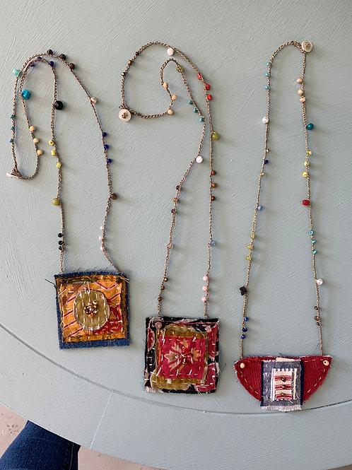 Hand-sewn Secret Amulet Necklace