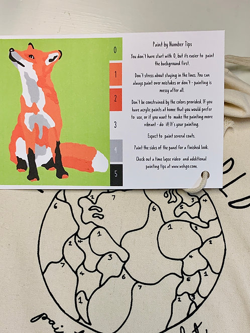 Fox Paint-by-Number Kit